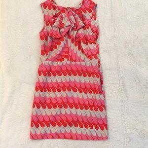 Marni 100% silk retro mod print dress
